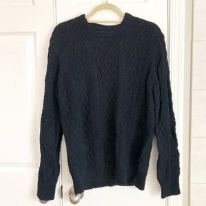 Men's JCREW cable knit sweater